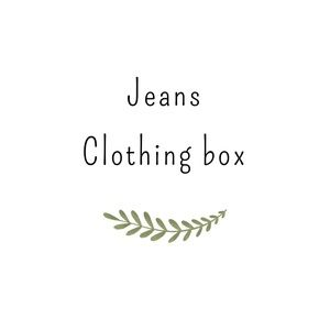 Clothing/ inventory box of 5 NWOT bottoms& jeans